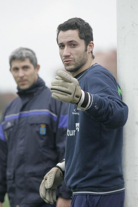 Guillermo en un entrenamiento de la Selección Asturiana. FOTO: Fierros